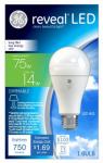 G E Lighting 45657 Reveal LED Light Bulb, Dimmable, 750 Lumens, 14-Watt