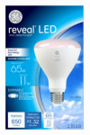 G E Lighting 45686 Reveal LED Light Bulb, Dimmable, 650 Lumens, 11-Watt