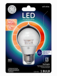 G E Lighting 37933 LED Light Bulb, Clear, Dimmable, 300 Lumens, 4-Watt