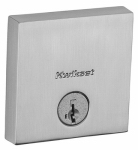 Kwikset 258 SQT 15 SMT CP K4 Downtown Square Single-Cylinder Deadbolt, Satin Nickel
