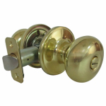 Taiwan Fu Hsing Industrial TF710B Mushroom Privacy Lockset, Polished Brass