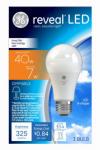 G E Lighting 45654 Reveal LED Light Bulb, 325 Lumens, 7-Watts