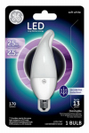 G E Lighting 39759 Frosted Dimmable LED Bulb, CA11 Shape, 3W