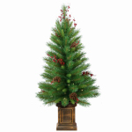 National Tree Co-Import WB8-306-40 Woodland Berry Artificial Entrance Tree, 4-Ft.