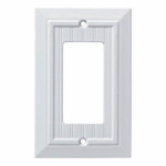 Brainerd Mfg Co/Liberty Hdw W35267L-PW-U Classic Beadboard Single Decorator Wall Plate, White