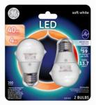 G E Lighting 34670 LED Light Bulbs, Clear, Dimmable, 300 Lumens, 4-Watt, 2-Pk.
