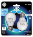 G E Lighting 34756 LED Light Bulb, Soft White, Dimmable, 530 Lumens, 7-Watt, 2-Pk.