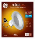 G E Lighting 68578 Relax Heavy Duty LED Recessed Lighting Bulb, White, Dimmable, 700 Lumens, 10-Watt