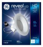 G E Lighting 68580 Reveal Heavy Duty + LED Light Bulb Reflector Kit, Dimmable, 630 Lumens, 12-Watt