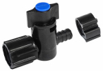 "Flair-It Central 30890 PEXLock Crimp Valve 1/2"" x 1/2"" FPT Swivel Blue"