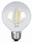 Feit Electric BPG2540/827/LED 4.5W CLR or Clear or Cleaner Fil Globe Bulb