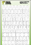 Hy-Ko Prod 30013 House Address Set, Self-Stick, White, 1-In. Numbers & Letters