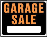 "Hy-Ko Prod SP-110 ""Garage Sale"" Sign, Hy-Glo Orange/ Black Plastic,  15 x 19-In."