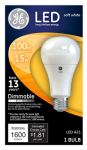 G E Lighting 65935 LED Light Bulb, A21, Soft White, Dimmable, 15-Watt