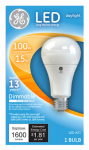 G E Lighting 65939 LED Light Bulb, A21, Daylight, Dimmable, 15-Watt