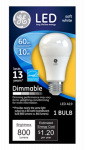 G E Lighting 67511 LED Light Bulb, A19, Soft White, Dimmable, 10-Watt