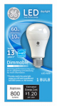 G E Lighting 67515 LED Light Bulb, A19, Daylight, Dimmable, 10-Watt