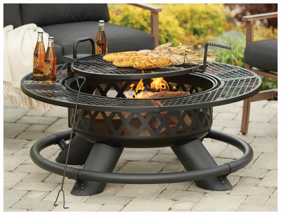 Shinerich Industrial SRFP96 Ranch Fire Pit With Grill, 47-In