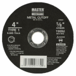 Disston 228364 Metal-Cutting Wheel, 4 x .045 x 5/8-In.