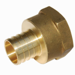 Sharkbite/Cash Acme UC094LFA Brass Adapter, 1-In. Barb Insert x 1-In. Female Iron Pipe Thread