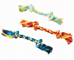 Ethical Products 54233 2-Knot Colored Dental Rope Dog Toy, 16-In.