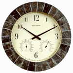 "Chaney Instrument 02418 14"" Slate Ind/Out Clock"