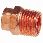B&K W 61124 Pipe Fitting, Wrot Copper Adapter, 3/8 x 1/2-In. MPT