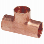 B&K W 64033 Pipe Tee, Wrot Copper, 3/4 x 3/4 x 1/2-In.