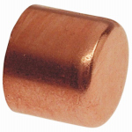 B&K W 67006 Pipe Fitting, Wrot Copper Cap, 3/8-In.