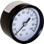Water Source M1002-8B Water Pressure Tank Gauge, .125-In. Back Mount, 100-Lbs.