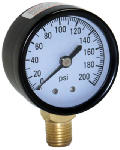 Water Source M2002-4L Water Pressure Tank Gauge, .25-In. Bottom Mount, 200-Lbs.
