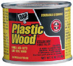 Dap 21412 Plastic Wood Cellulose Fibre Wood Filler, White, 4-oz.