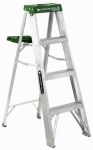 Louisville Ladder AS4004 4-Ft. Step Ladder, Aluminum, Type II, 225-Lb. Duty Rating