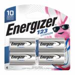 Eveready Battery EL123BP-4 123 Lithium Batteries, 4-Pk.