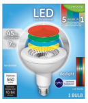 G E Lighting 69262 LED Light Bulb, PAR38, White, 7-Watt
