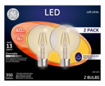 G E Lighting 23192 GE 2PK 4W LED G25 Bulb