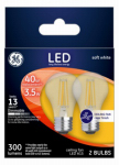 G E Lighting 23240 GE2PK 3.5W LED Fan Bulb