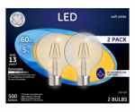 G E Lighting 23344 GE 2PK 5W LED G25 Bulb