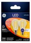 G E Lighting 24302 Ceiling Fan LED Light Bulb, A15, Clear, 3.5-Watt, 2-Pk.