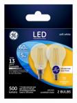 G E Lighting 24309 Ceiling Fan LED Light Bulb, Clear, 5.5-Watt, 2-Pk.