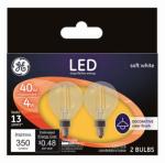 G E Lighting 24535 GE 2PK 4W LED G16 Bulb