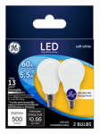 G E Lighting 24949 GE2PK 5.5W LED Fan Bulb