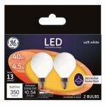 G E Lighting 25046 GE2PK 4.5W LED G16 Bulb