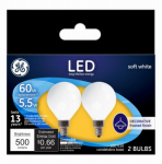 G E Lighting 25923 GE2PK 5.5W LED G16 Bulb