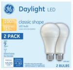 G E Lighting 21227 GE 2PK 16W LED A21 Bulb