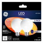 G E Lighting 24954 LED Light Bulb, G25, Frost, 4.5-Watts, 2-Pk.