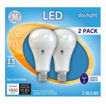 G E Lighting 21868 LED Light Bulb, A21, Daylight, 15-Watts, 2-Pk.