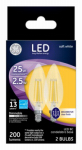 G E Lighting 22560 GE 2PK 2.5W BC Bulb