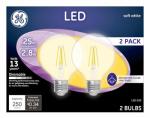 G E Lighting 23049 GE2PK 2.8W LED G25 Bulb