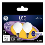 G E Lighting 28280 GE 2PK 5W LED G16 Bulb